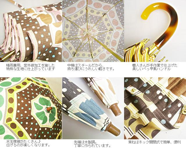 水玉模様の長傘