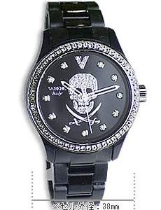 VA BENE スカル腕時計